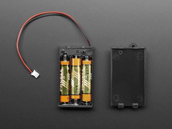 Suport pentru baterii 3xAAA cu switch si clema curea [2]