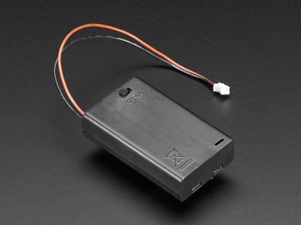 Suport pentru baterii 3xAAA cu switch si clema curea [1]