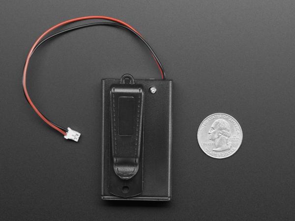 Suport pentru baterii 3xAAA cu switch si clema curea [3]
