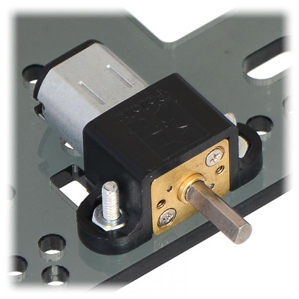 Motor electric micro metal 50:1 HPCB cu ax pentru encoder (Perii De Carbon) [6]