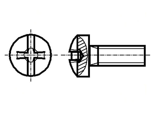 Set surub 2.5mm (M2.5) x 10mm (10 bucati) cap Phillips 0
