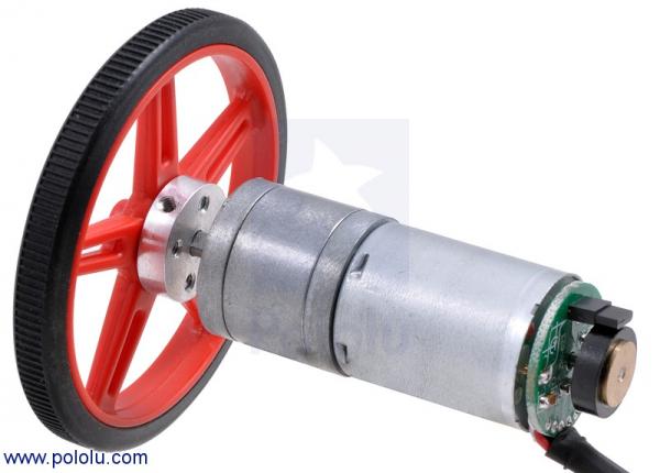 Motor 25Dx52L 1010 RPM cu encoder Pololu [1]