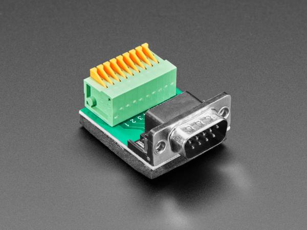Adaptor priza DE-9 (DB-9) tata la bloc terminal cu arc 2