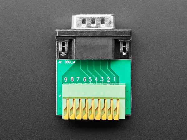 Adaptor priza DE-9 (DB-9) tata la bloc terminal cu arc 3