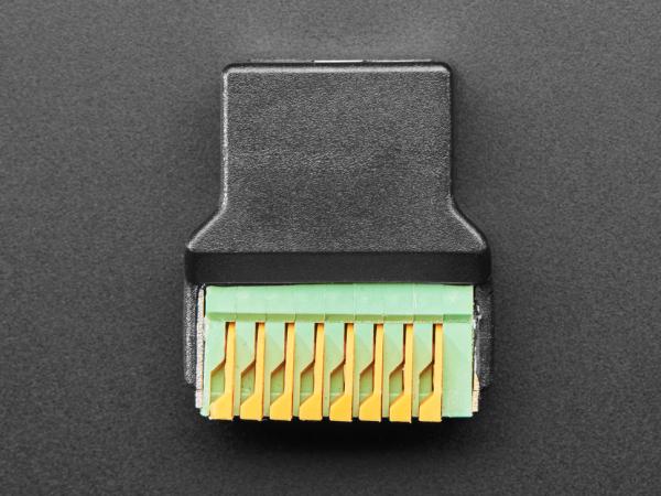 Adaptor priza RJ-45 Ethernet mama la bloc terminal cu arc [2]