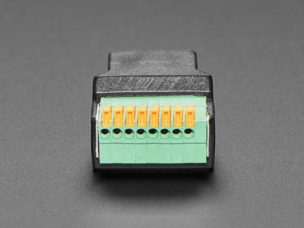 Adaptor priza RJ-45 Ethernet mama la bloc terminal cu arc [4]