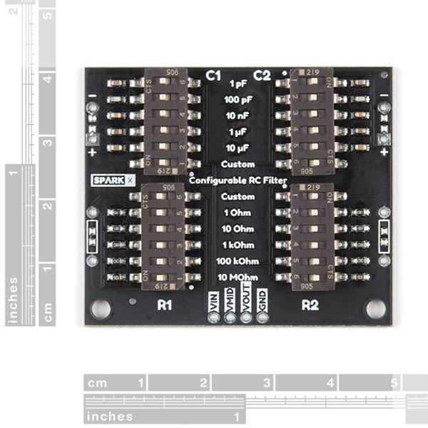 Filtru RC configurabil SparkFun [1]