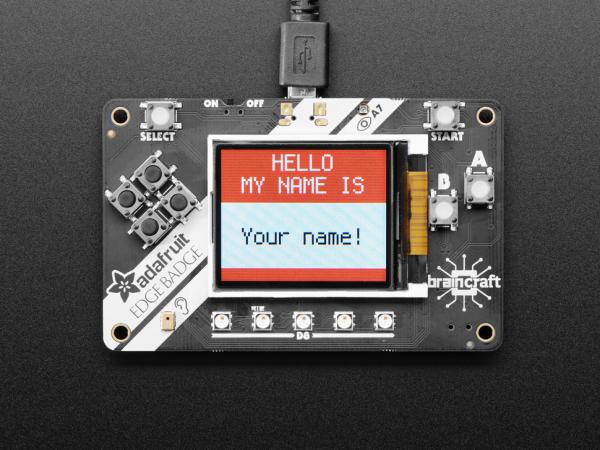 Placa Adafruit EdgeBadge TensorFlow Lite pentru microcontrollere 1