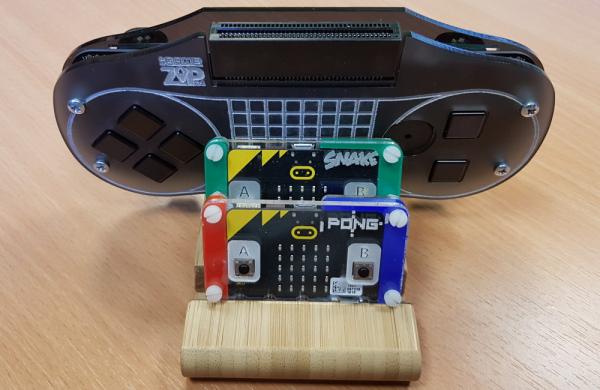 Platforma gaming portabila Kitronik :GAME ZIP 64 pentru BBC micro:bit 4