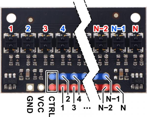 Pololu QTRX-HD-31A bara 31 senzori linie analogici 3