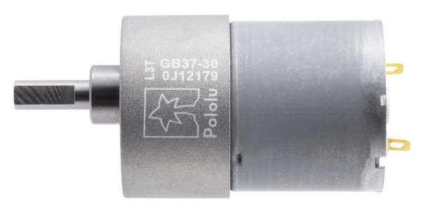 Pololu motor electric 30:1 37Dx52L 12V, pinion dinti inclinati 1