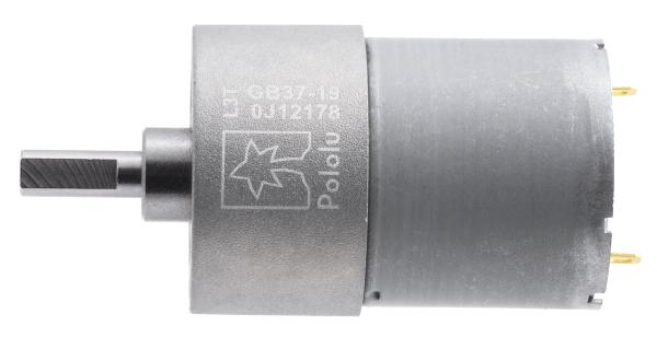 Pololu motor electric metalic, 19:1, 37Dx52L, 12V, pinion elicoidal [1]