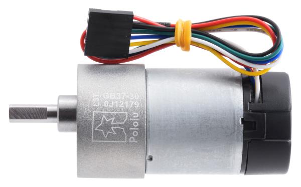 Pololu motor electric metalic, 30:1, 37Dx68L, 12V, pinion elicoidal 1