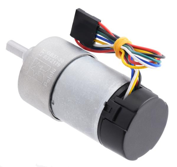Pololu motor electric metalic, 30:1, 37Dx68L, 12V, pinion elicoidal 2