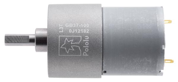 Pololu motor electric metalic 12V, 100:1, 37Dx57L, pinion elicoidal 1