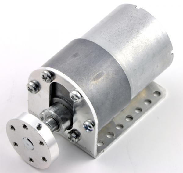 Pololu motor electric metalic 12V, 100:1, 37Dx57L, pinion elicoidal 6