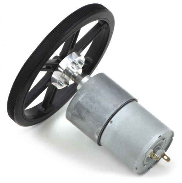 Pololu motor electric metalic 12V, 100:1, 37Dx57L, pinion elicoidal 7