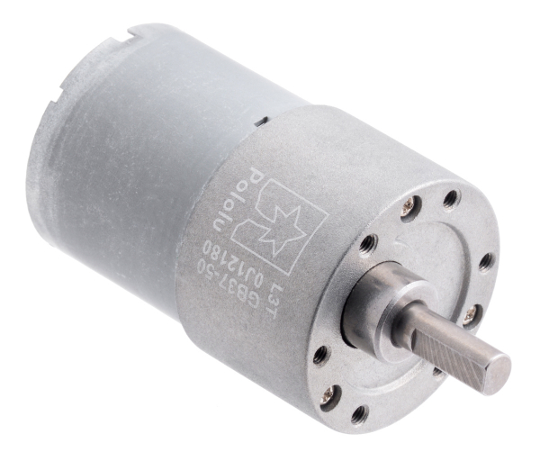 Pololu motor electric metalic 12V, 50:1, 37Dx54L, pinion elicoidal 0