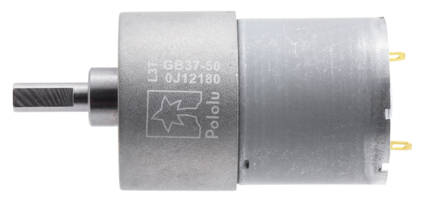 Pololu motor electric metalic 12V, 50:1, 37Dx54L, pinion elicoidal 1