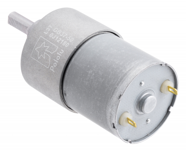 Pololu motor electric metalic 12V, 50:1, 37Dx54L, pinion elicoidal 2
