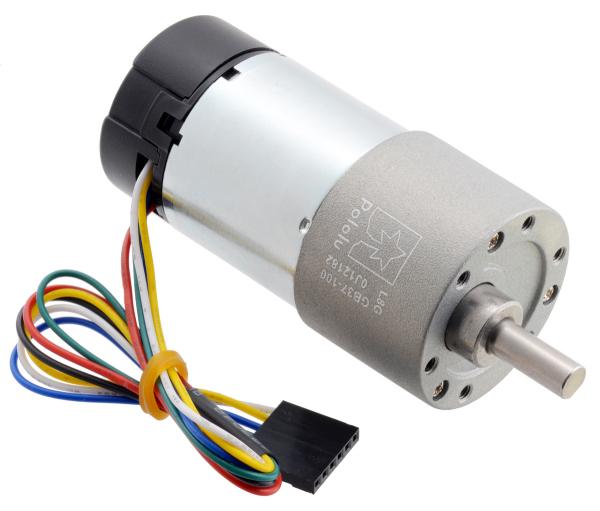 Pololu motor electric metalic 24V, 1001, 37Dx73L, pinion elicoidal 0