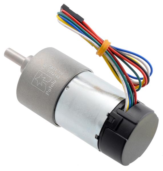 Pololu motor electric metalic 24V, 1001, 37Dx73L, pinion elicoidal 2