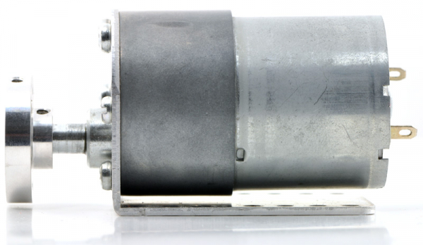 Pololu motor electric metalic 24V, 150:1, 37Dx73L, pinion elicoidal, encoder 4