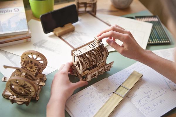Puzzle mecanic 3D lemn Ugears Contor 9