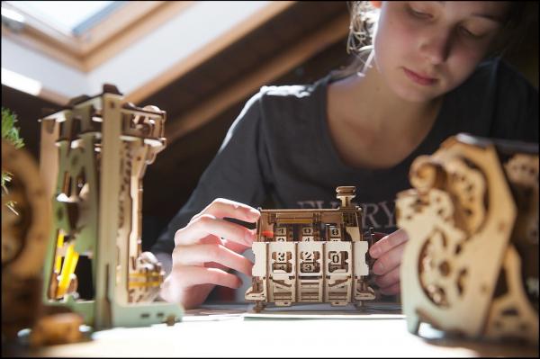 Puzzle mecanic 3D lemn Ugears Contor 13