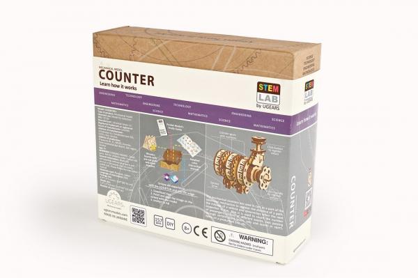 Puzzle mecanic 3D lemn Ugears Contor 15