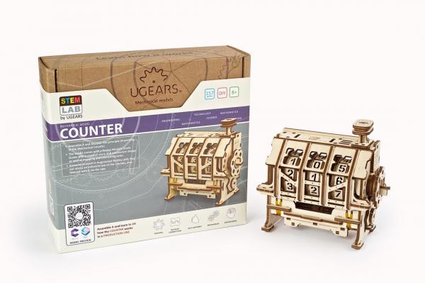 Puzzle mecanic 3D lemn Ugears Contor 14