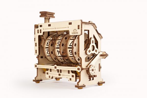 Puzzle mecanic 3D lemn Ugears Contor 4