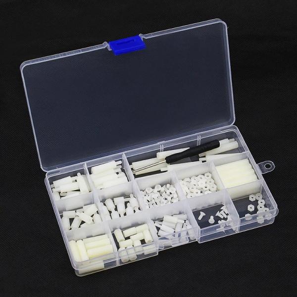 Set suruburi albe din nailon pentru Raspberry Pi 0