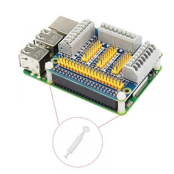 Set suruburi albe din nailon pentru Raspberry Pi 4