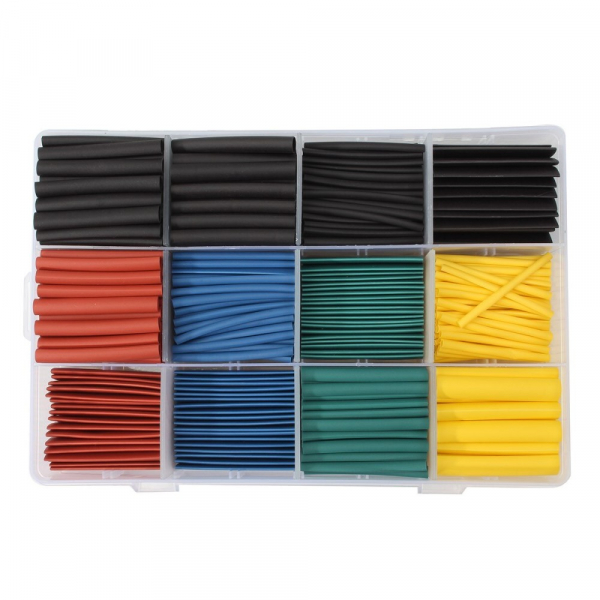 Set tuburi izolatoare termocontractabile colorate - 530 buc [0]