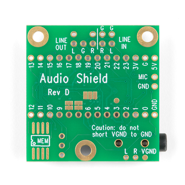 SparkFun Teensy 4 shield audio (Rev D) 3