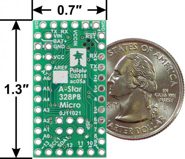A-Star 328PB Micro - 3.3V, 12MHz compatibil Arduino 2
