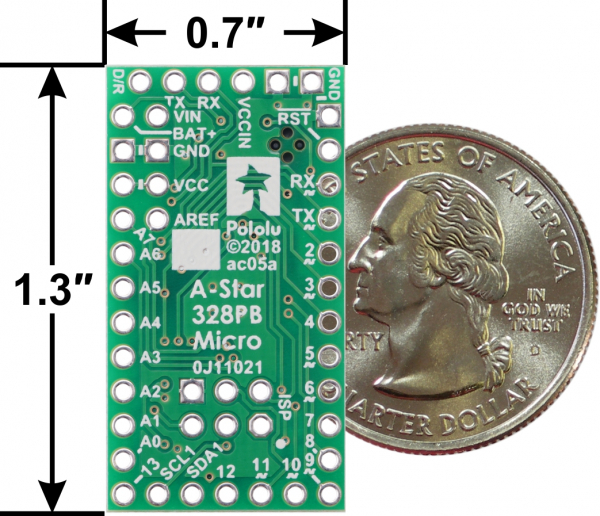 A-Star 328PB Micro - 5V, 16MHz compatibil Arduino [2]