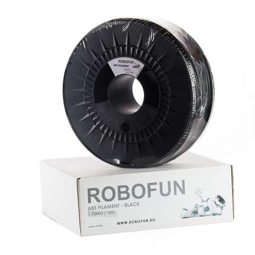Retras Filament Premium Robofun ABS 1KG  1.75 mm - Negru [1]