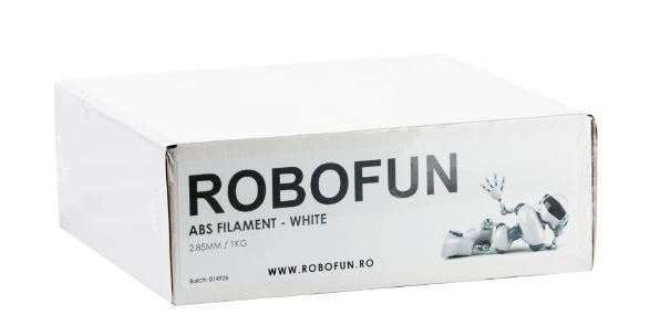 Filament Premium Robofun ABS 1KG  3 mm - Alb 1