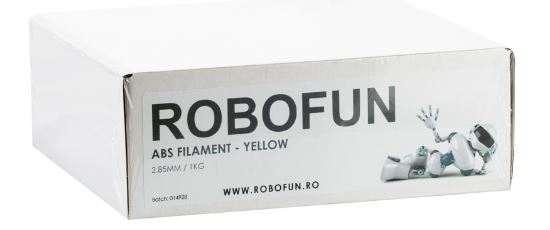 Filament Premium Robofun ABS 1KG  3 mm - Galben [1]