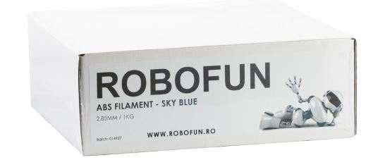 Filament Premium Robofun ABS 1KG  3 mm - Albastru deschis 8