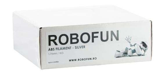 RETRAS Filament Premium Robofun ABS 1KG  1.75 mm - Silver 8
