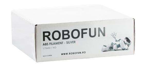 RETRAS Filament Premium Robofun ABS 1KG  1.75 mm - Silver 4