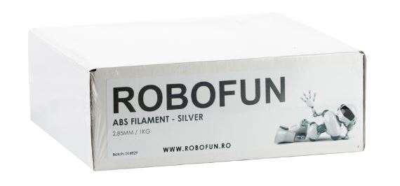 RETRAS Filament Premium Robofun ABS 1KG  3 mm - Silver [5]