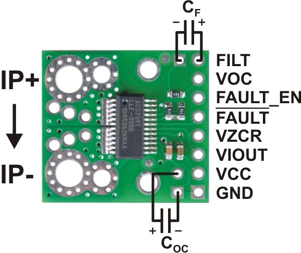 Senzor curent ACS709  -75A +75A 2