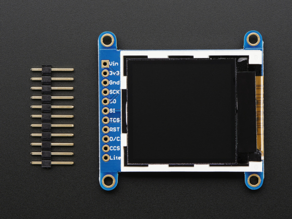 """LCD TFT color 1.44"""" cu MicroSD Card breakout - ST7735R 5"""
