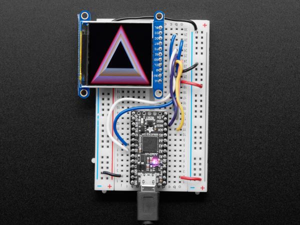 "Display TFT LCD Adafruit ST7789 de 1.54"", 240x240 pixeli,  slot microSD [5]"