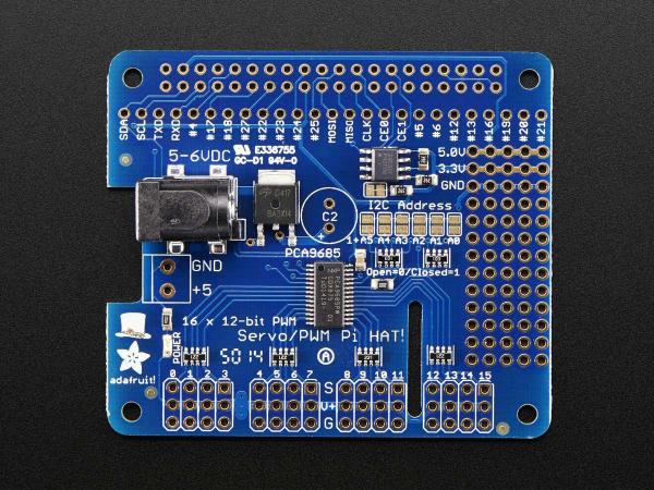 16 Canale PWM / Servo HAT pentru Raspberry Pi - Mini Kit 0