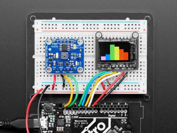 Breakout senzor de lumina/culoare de 6 canale Adafruit AS7262 1